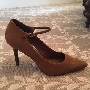LAUREN Ralph Lauren Suede Ankle Strap Heels
